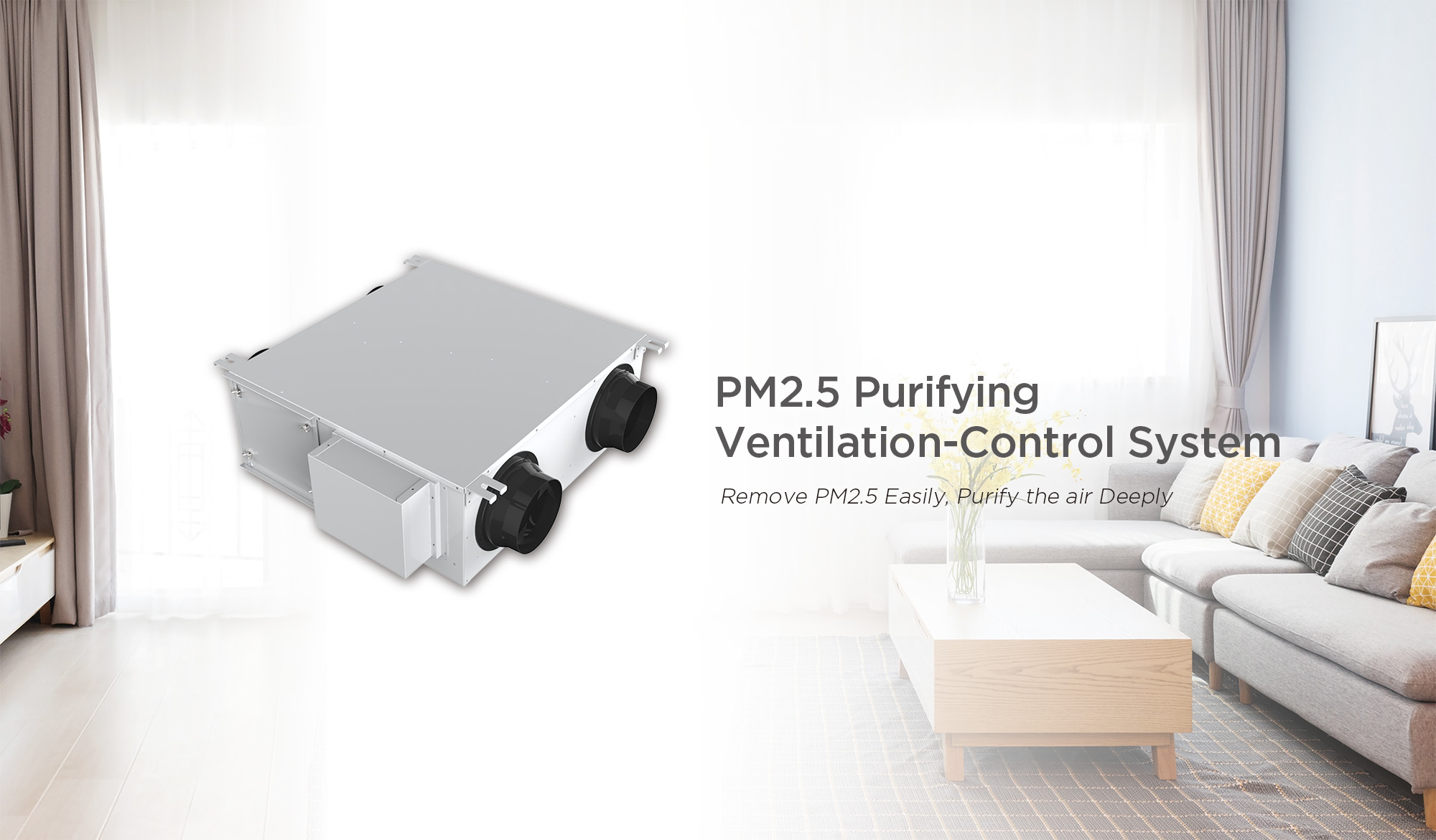 PM2.5 Purifying Ventilation-Control System